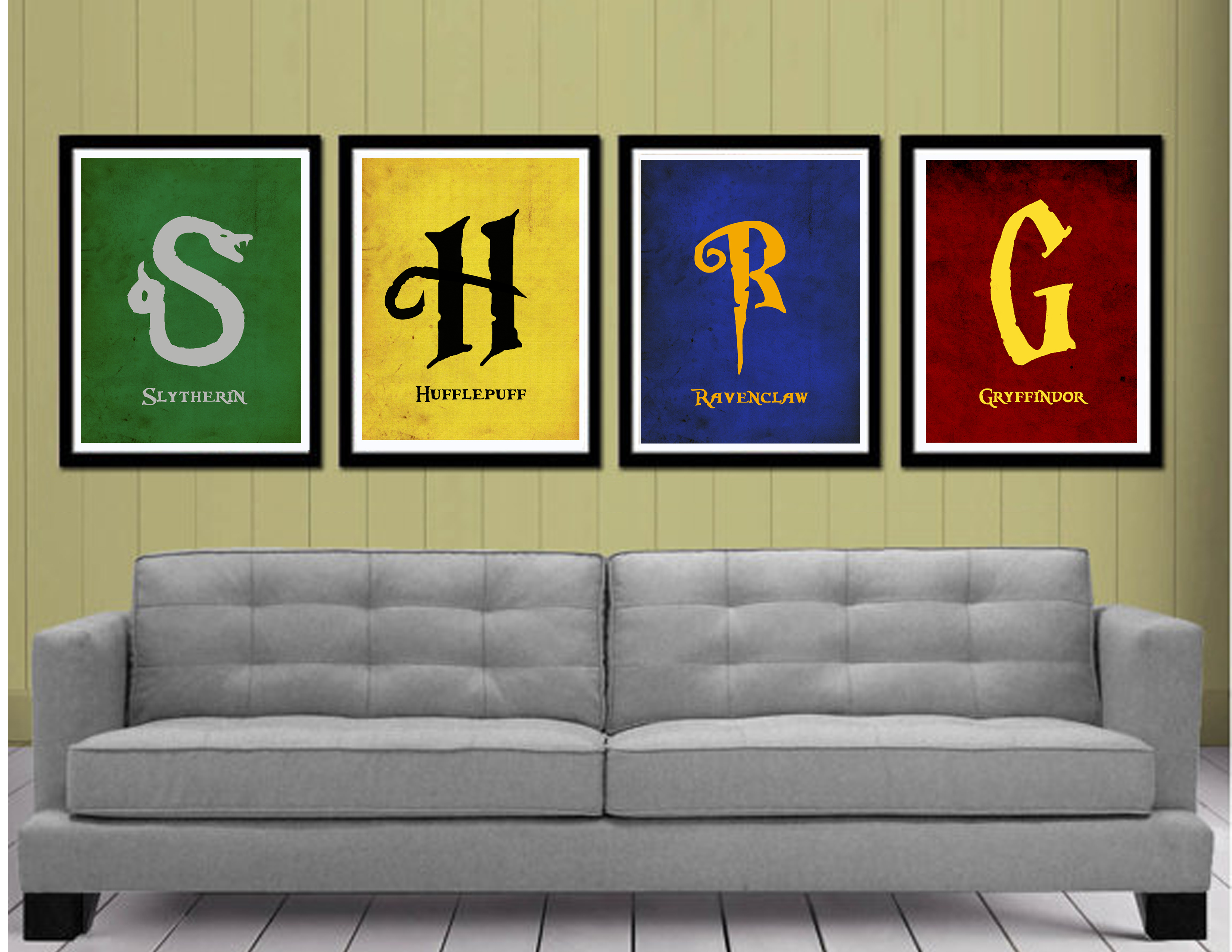 Harry potter houses minimalist posters 4 pack on storenvy for Minimalist house logo