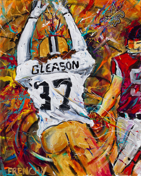 Blocked Punt Serigraph by Frenchy