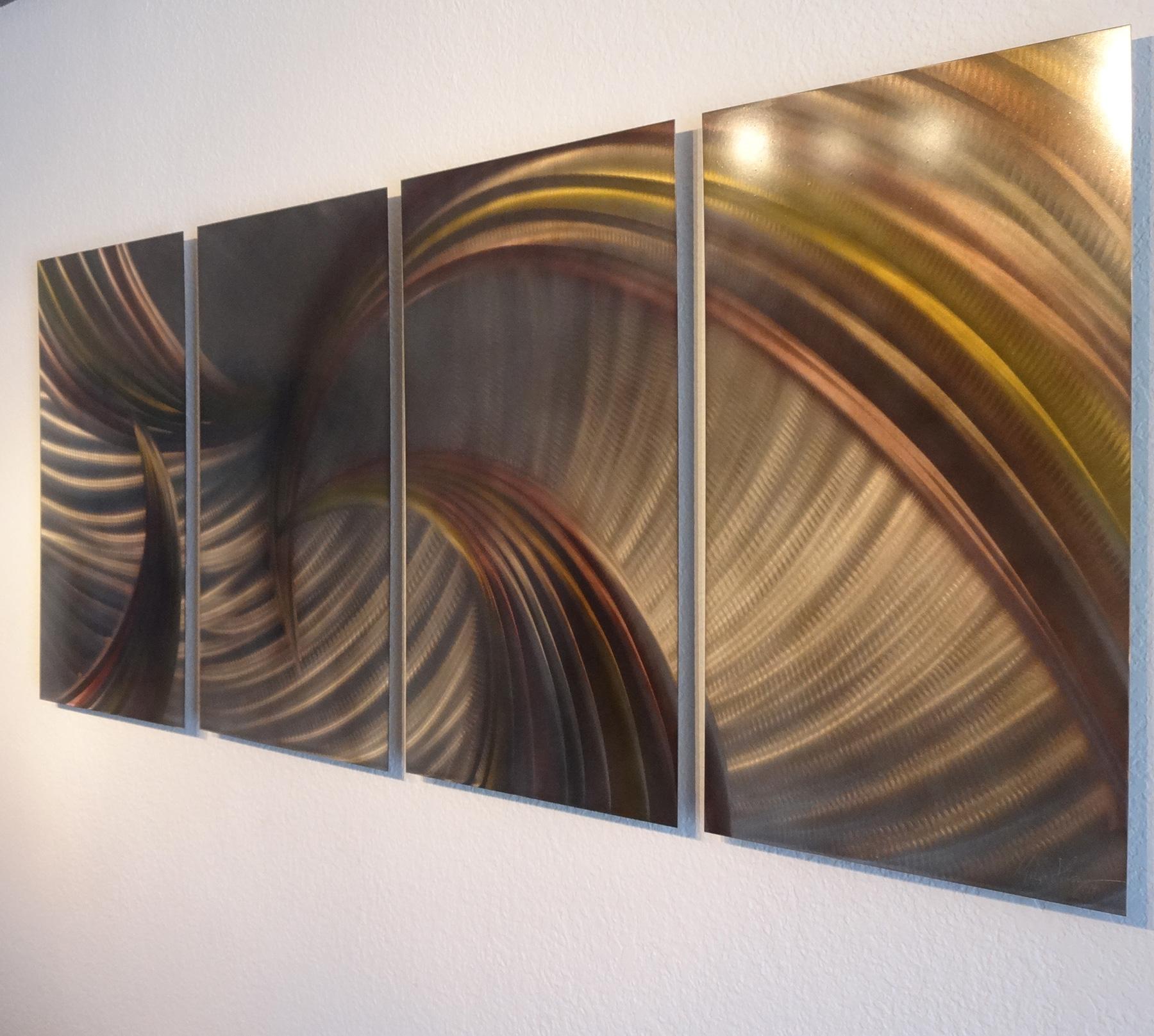 Tempest Bronze - Abstract Metal Wall Art Contemporary Modern Decor ...