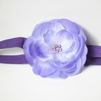 Lilac flower clip and headband
