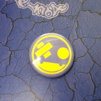 yel/purp Button Pin