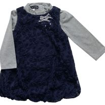 Biscotti By Kate Mack Navy Jumper w/flowers