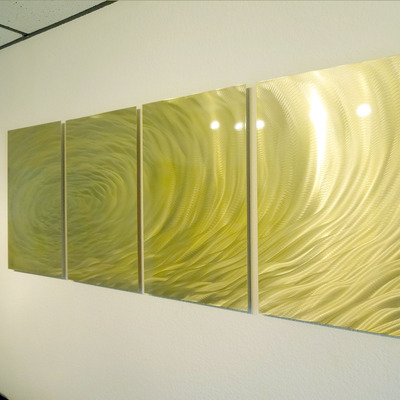 Gold Ripple- Metal Wall Art Abstract Contemporary Modern Decor ...
