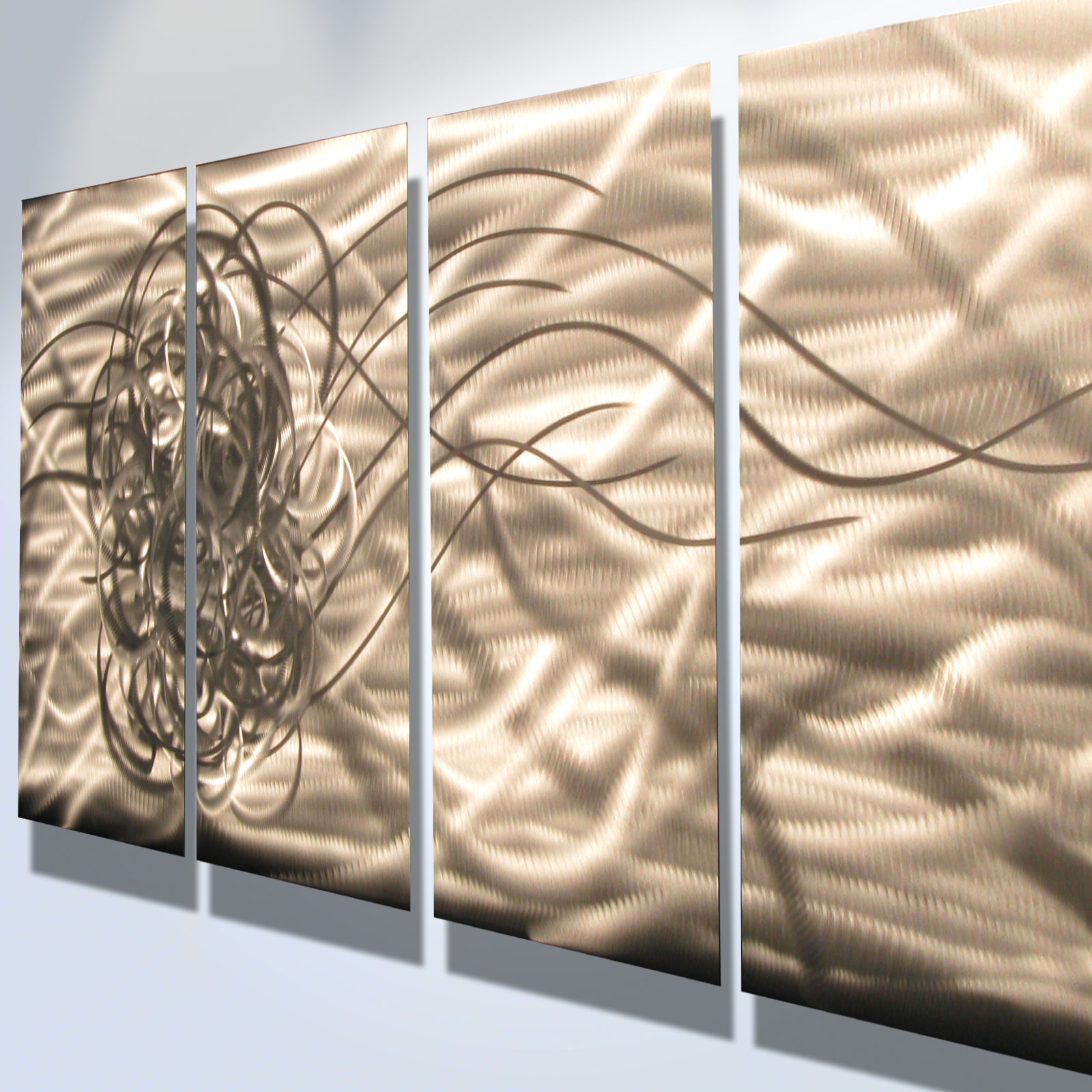 ... Torrent- Abstract Metal Wall Art Contemporary Modern Decor - Thumbnail 2