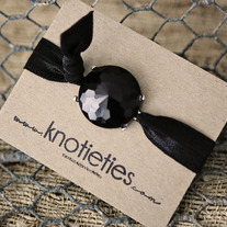 knotie bubble original - black w/silver