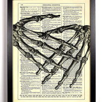 Image of I Want To Hold Your Hand , Vintage Dictionary Print, 8 x 10