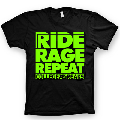 Collegexbreaks - snowboard short sleeve - black & neon green