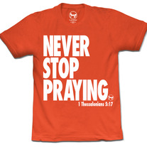 Never/Stop Praying (Neon Orange)