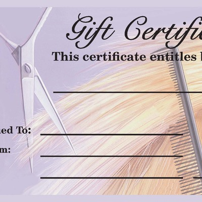salonpros gift certificates stub style online store powered by