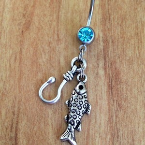 Gone Fishin' Belly Ring