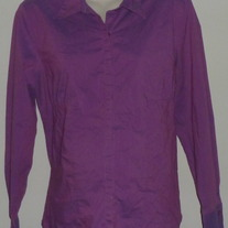 Purple Button/Collar Top-Duo Maternity Size Large