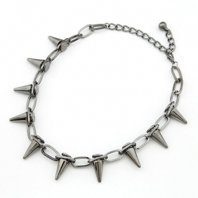 Spikes Necklace - Black Tin