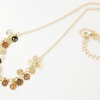 Tiny Skull Necklace - Gold - Thumbnail 1