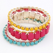 Pastel Color multi layer bracelet