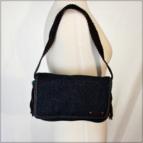 Denim Fringe Shoulder Bag