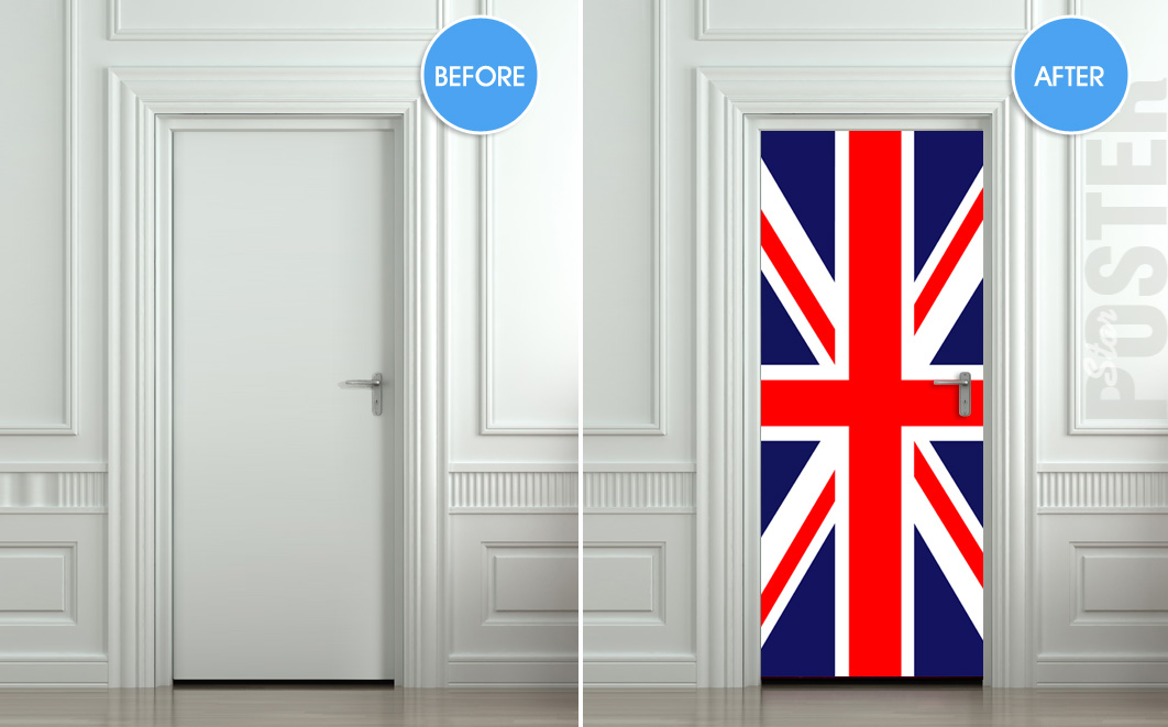Door Sticker British Flag Uk Banner Great Britain English  sc 1 st  Sanfranciscolife & Door Flags - Sanfranciscolife