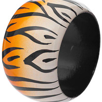 Wooden Tiger Bangle - Two Colors Available