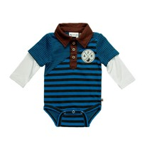 Fore! Axel & Hudson Boys Striped Polo Onesie