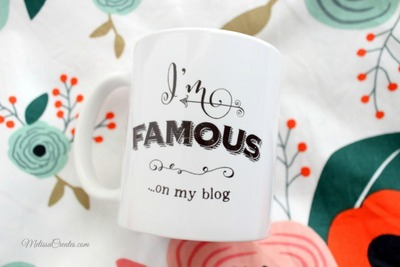 I'm Famous On My Blog 11oz Coffee Mug