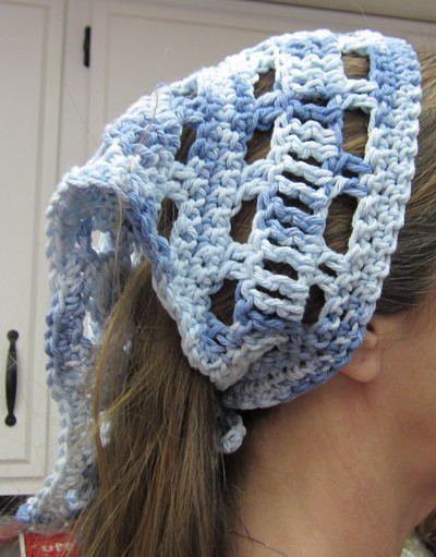 Crochet Hair Kerchief : Crochet Hair Kerchief/Bandana/Head Scarf in Various Colors ...