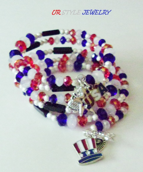 Usa sparkling firework charm wrap ur style jewelry for Jewelry stores in usa