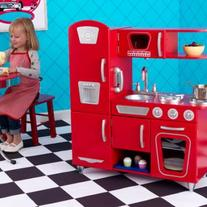 KidKraft Vintage Kitchen- RED, PINK, AND WHITE!
