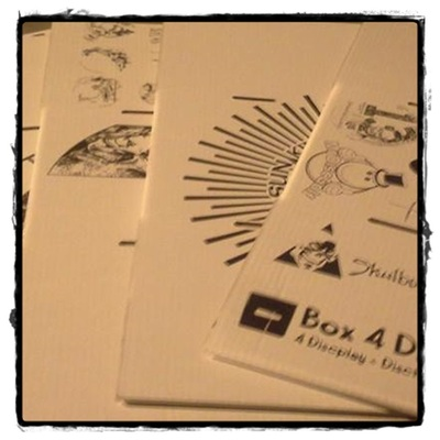 Misprints, seconds & overruns trotterbox-deluxes by box4discs (trays & lids - 4 ct. default)