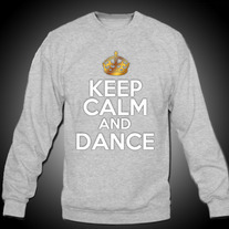 Gray Keep Calm and Dance