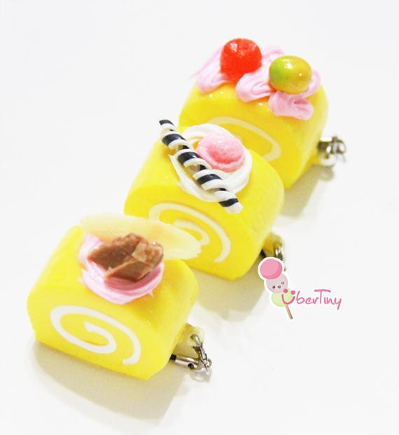 Ibloom Cake Roll Squishy : Squishy Mini Swiss Roll/Log cake ? Uber Tiny ? Online Store Powered by Storenvy