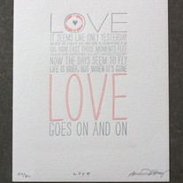 Love Goes On And On Print