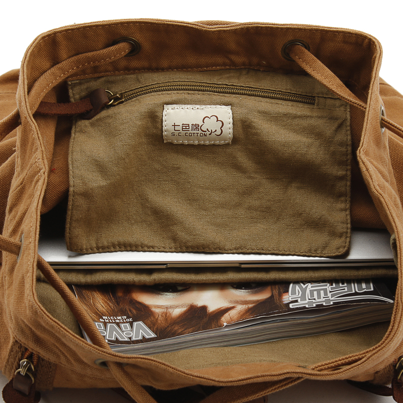 Camping canvas duffle backpacks | bucket laptop pack · Vintage ...