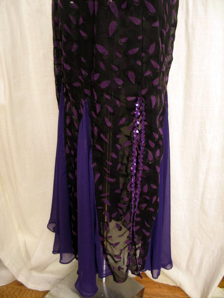 Purple and Black Chiffon Mermaid Belly Dance Skirt · Sunny Chapman ...