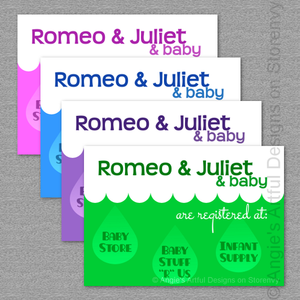 It's just a picture of Vibrant Free Printable Baby Registry Cards
