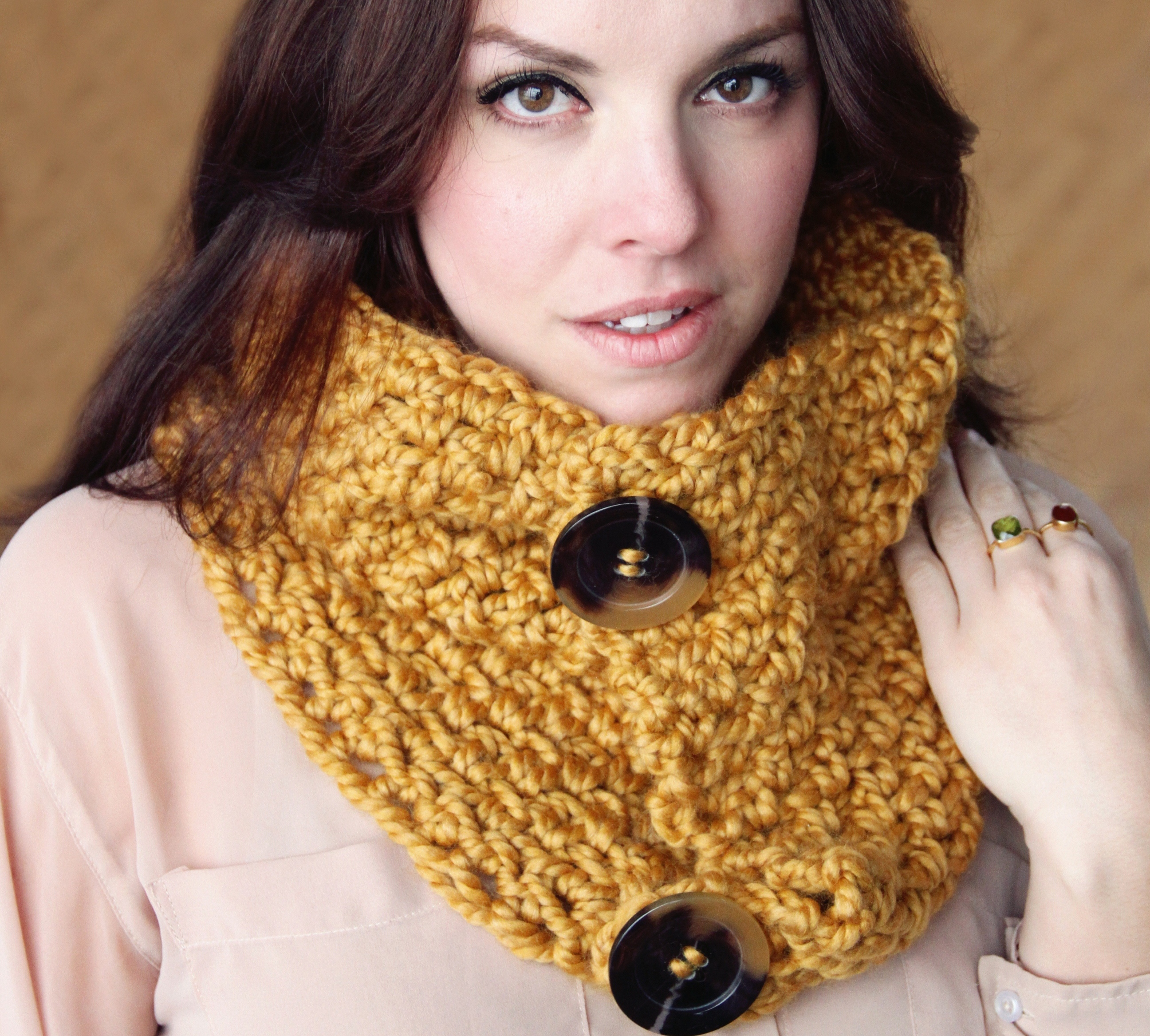 Crochet Pattern Chunky Cowl Scarf Wrap The Brooklyn On
