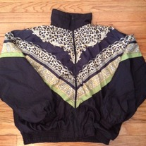 "Vintage ""Versace Inspired"" Animal Print Windbreaker"