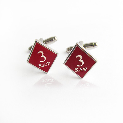 Tre klub kappa alpha psi diamond cufflinks