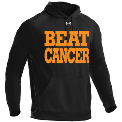 Black/orange under armour®‎ hoodie