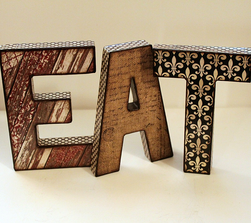 Personalized custom names words letters on storenvy for Kitchen letters decoration