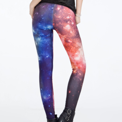 Red and blue cosmic tights
