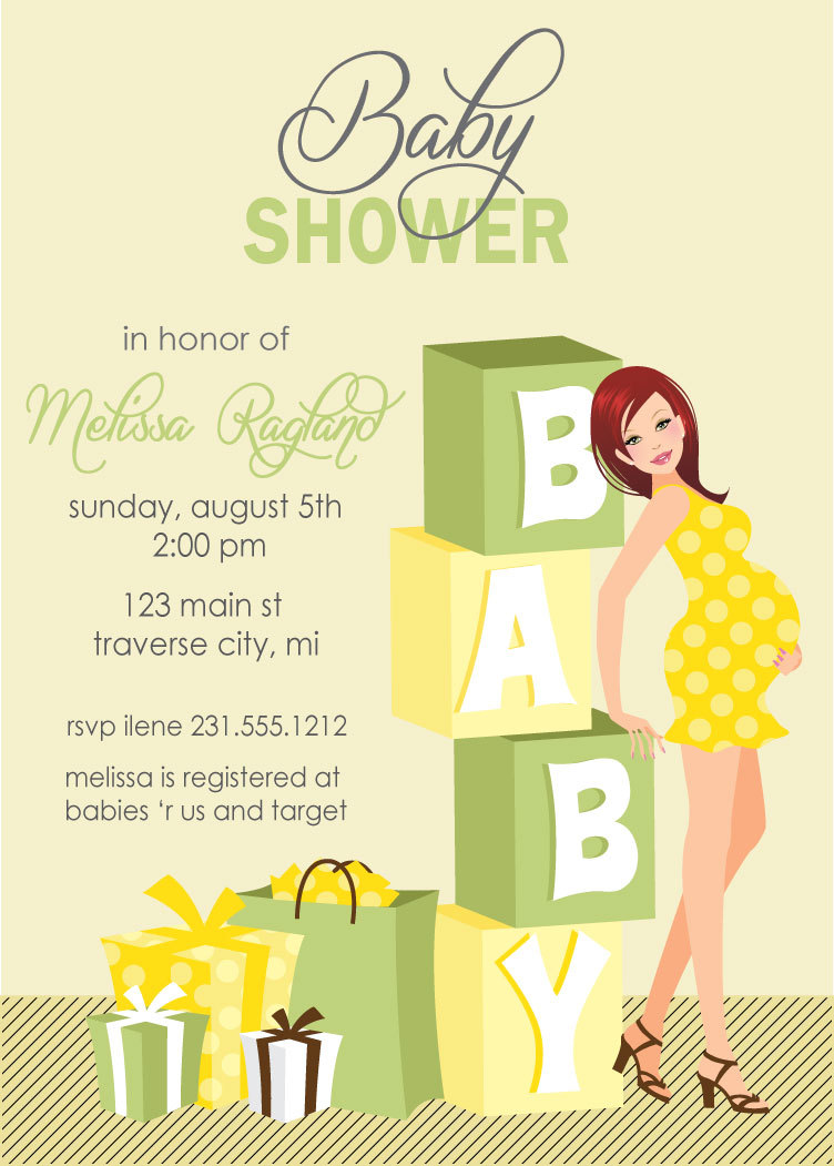 Blocks Baby Shower Invitations - Gender Neutral Baby Shower Invites ...