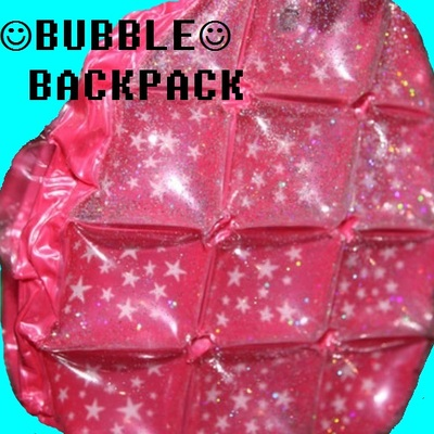 Pink glittery bubble backpack