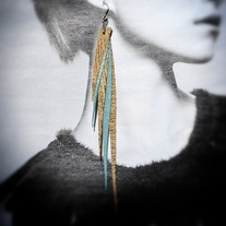 Fahmina Eco Leather Shoulder duster earrings™