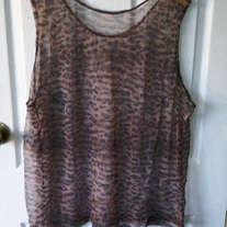 Lane Bryant Intimates Sheer Leopard Tank Top Sz 26/28