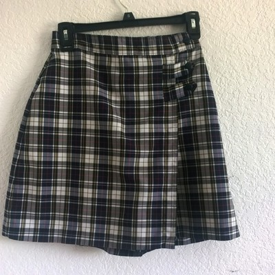 S/m white plaid school girl skort