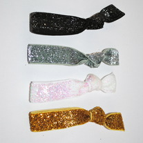 The Diva Set- 4 Glitter Hair Ties