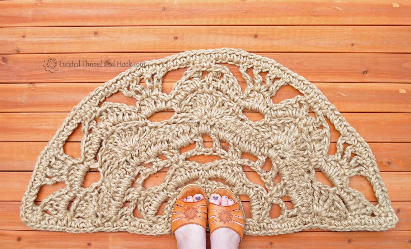 Half Moon Doormat Natural Rope Mat Semicircle Doormat Natural Floor Decor