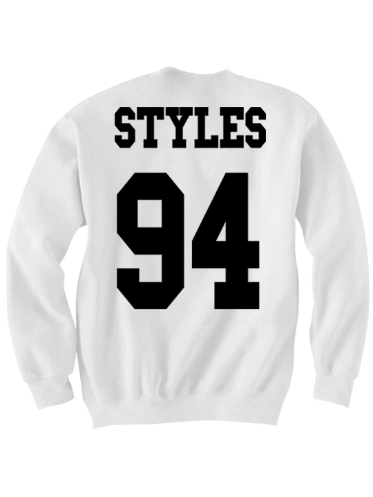 Harry Styles Sweatshirt Directioner Jersey Shirt One Direction Concert Tickets 1 Direction Merch