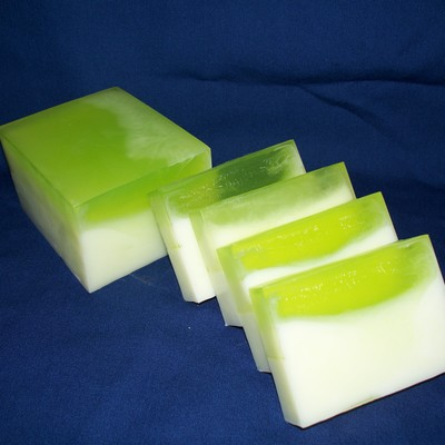 Coconut lime verbena goats milk soap