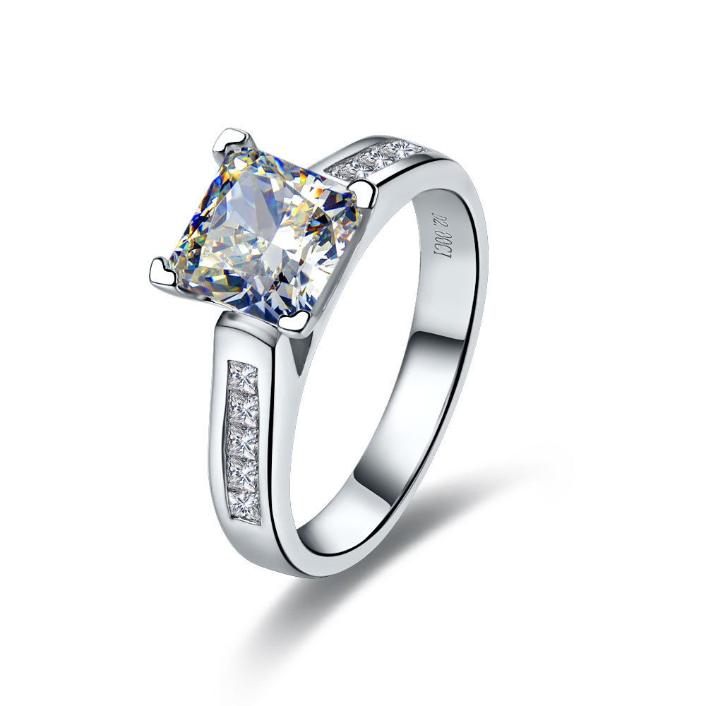 d rings gold diamond certified ring cushion natalie f wg k ct cut twt g in radiant engagement halo white