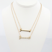 Double Tiered Arrow Necklace